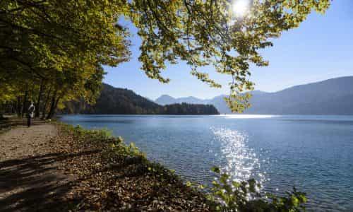 Wolfgangsee mit Blick zum Ochsenkreuz