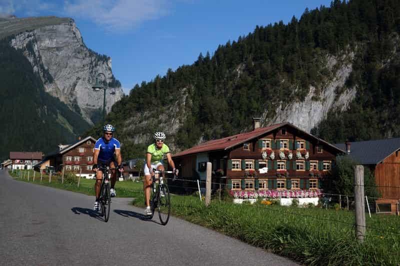 Radtour Hochhäderich im Bregenzerwald in Vorarlberg