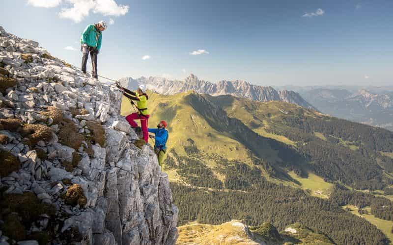 Klettersteig Gauablickhöhle (c) Stefan Kothner - Montafon Tourismus GmbH, Schruns